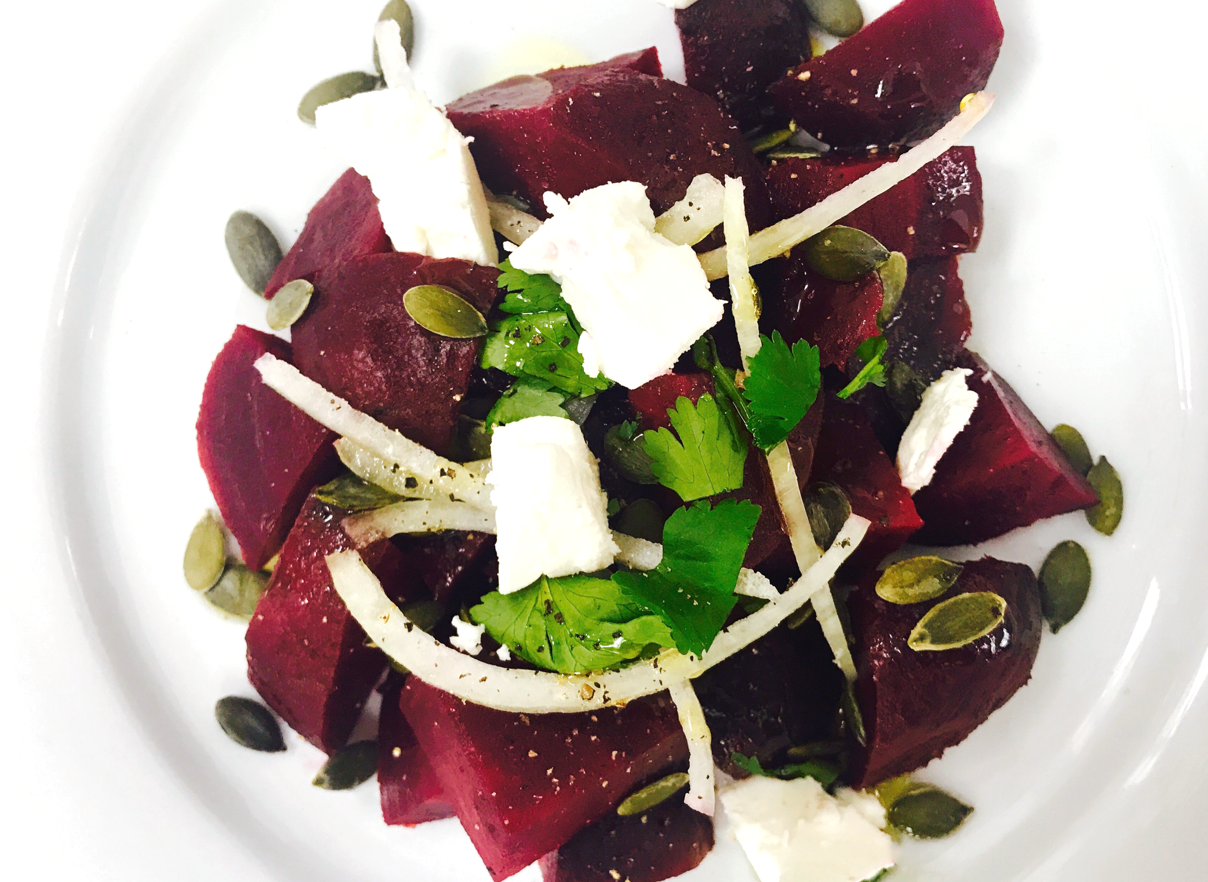 SugarDoctor Recipe Beetroot and feta salad on a plate