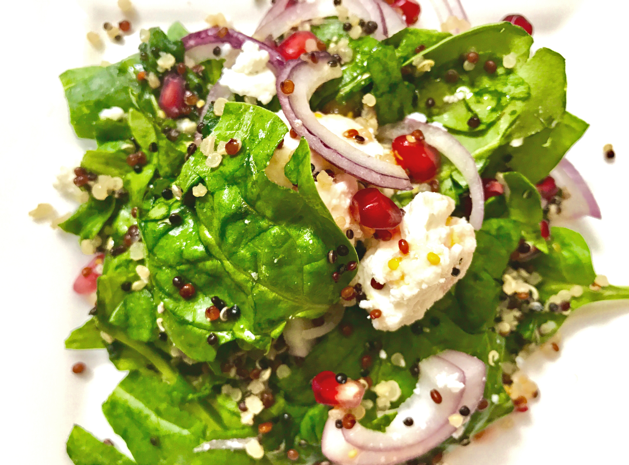 SugarDoctor Recipe Spinach and Pomegranate Salad