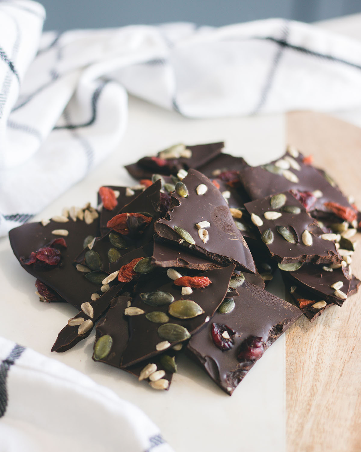 Chocolate brittle recipe with cranberries