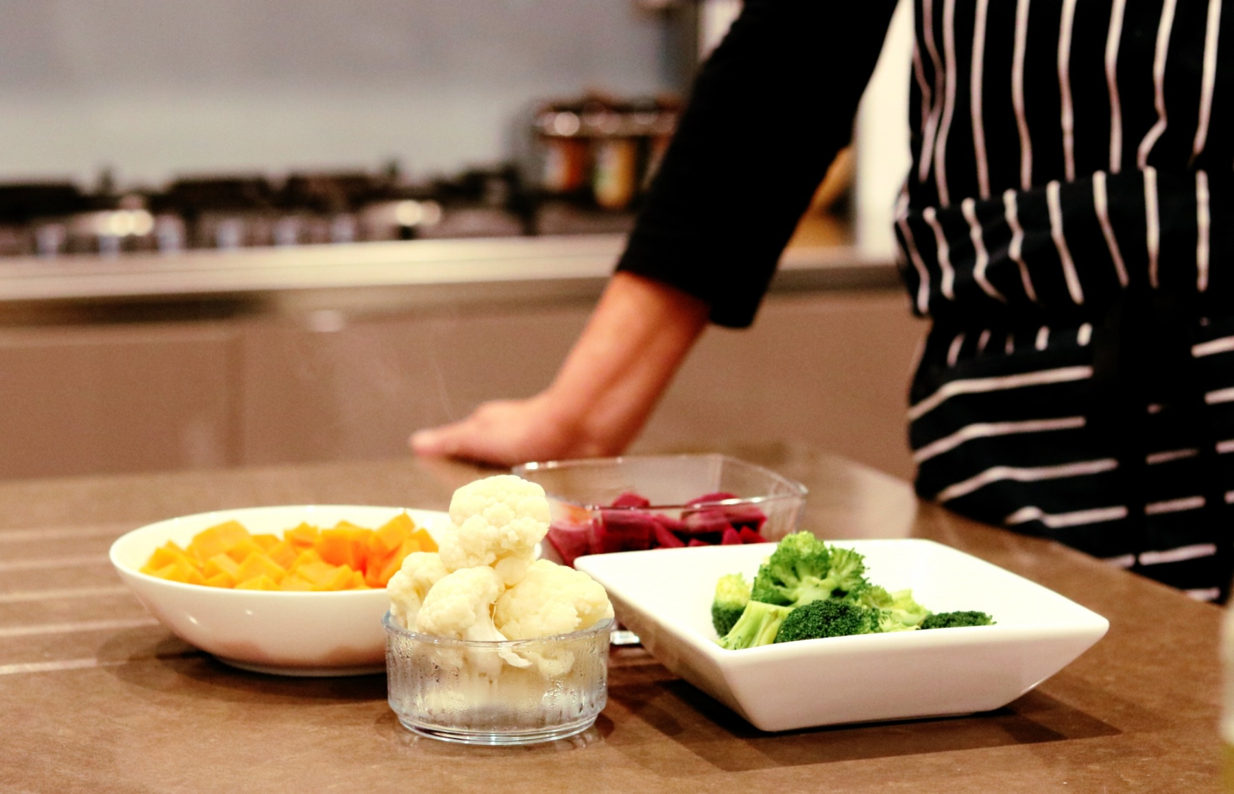 SugarDoctor Recipe Cooked vegetables on a kitchen surface