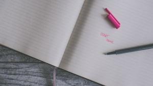 Start today written on a notebook