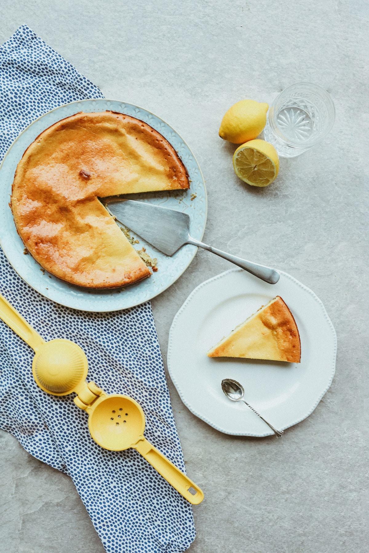 Gluten Free Lemon Cheese Cake