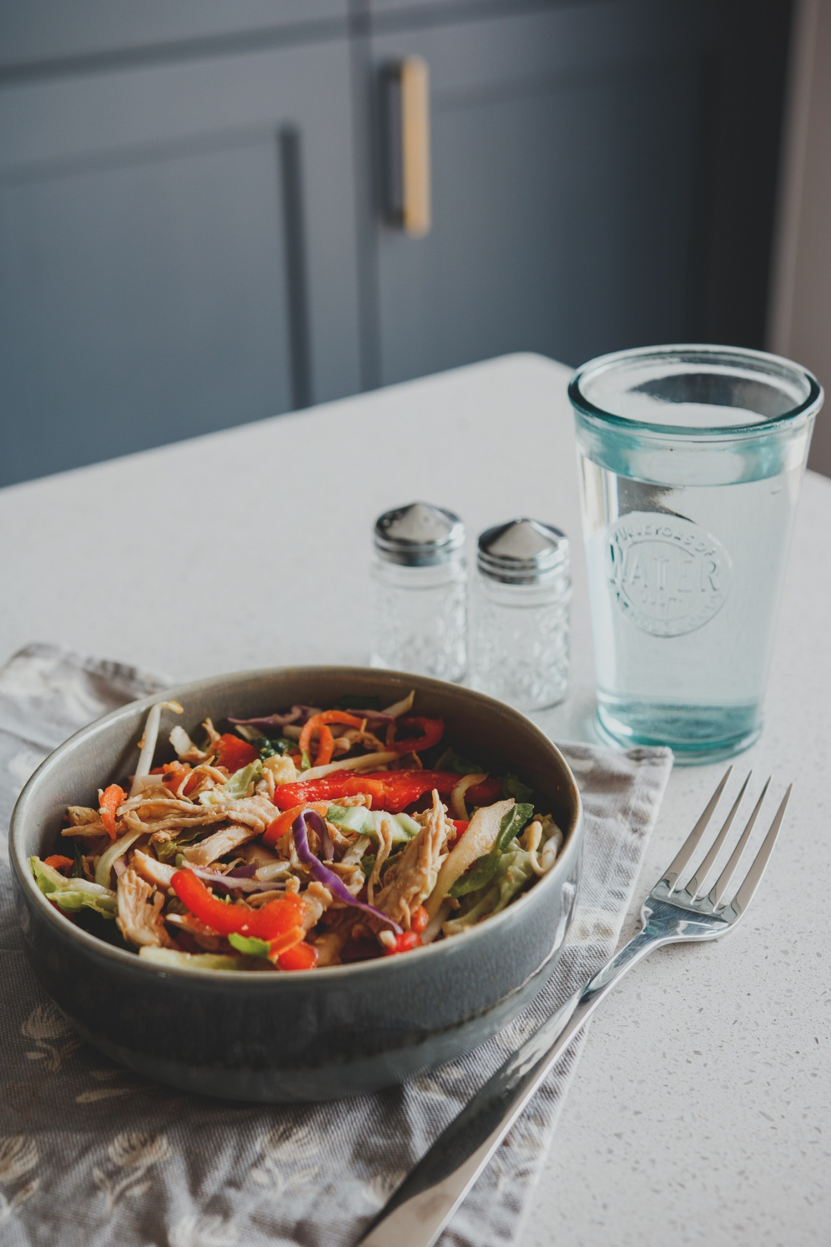 chicken and vegetables in a bowl